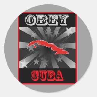Obedezca Cuba Etiquetas