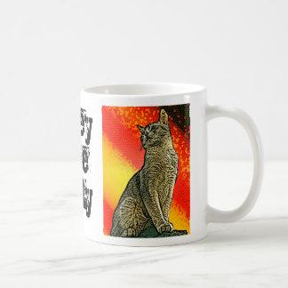 Obedezca el gatito tazas de café