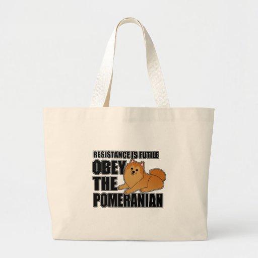 Obedezca el Pomeranian Bolsa
