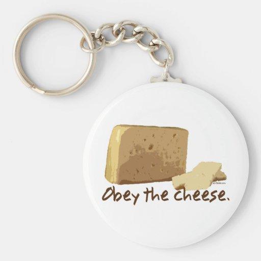 Obedezca el queso llavero