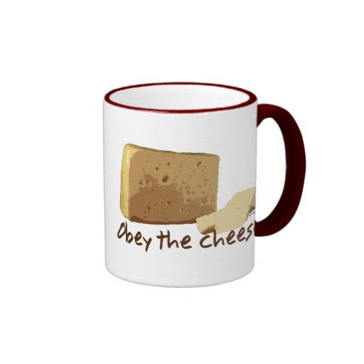 Obedezca el queso taza