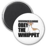 Obedezca el Whippet Imán De Frigorífico