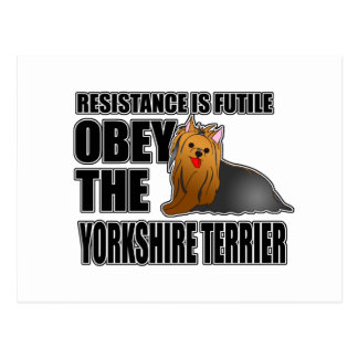 Obedezca el Yorkshire Terrier Postal