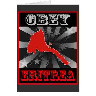 Obedezca Eritrea Tarjeta De Felicitación