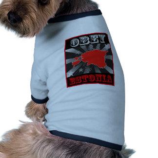 Obedezca Estonia Camisetas Mascota