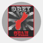 Obedezca Guam Pegatina Redonda