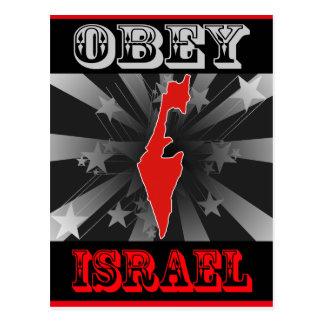 Obedezca Israel Tarjeta Postal