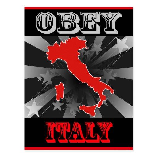 Obedezca Italia Postales