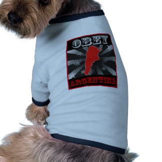 Obedezca la Argentina Camisa De Mascota