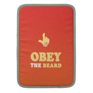 ¡Obedezca la barba! Fundas MacBook