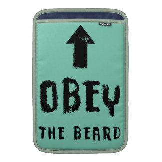 ¡Obedezca la barba! Fundas Para Macbook Air