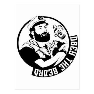 Obedezca la barba postales