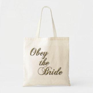 Obedezca la bolsa de asas de la novia