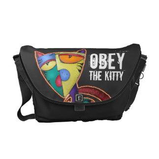 Obedezca la bolsa de mensajero del carrito del gat bolsa de mensajeria