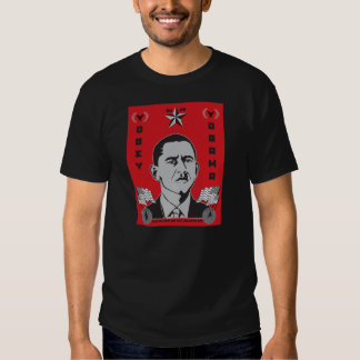 Obedezca la camiseta de la propaganda de Obama Polera