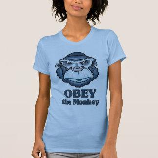 Obedezca la camiseta del mono