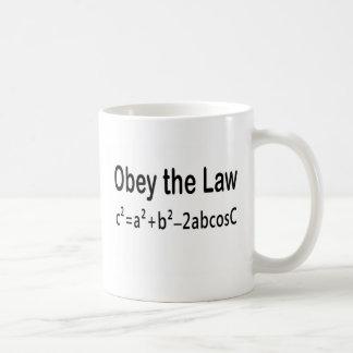 Obedezca la ley del _de la ley de cosenos taza de café