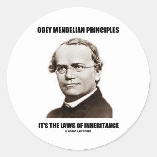 Obedezca las leyes mendelianas de la herencia Gre Etiquetas