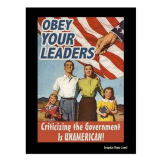 Obedezca su propaganda de los líderes postal