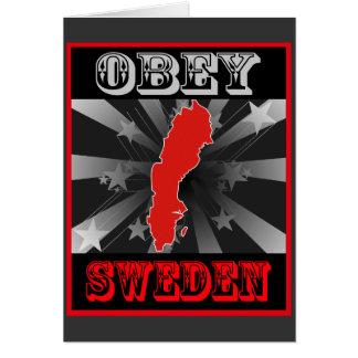 Obedezca Suecia Tarjeta