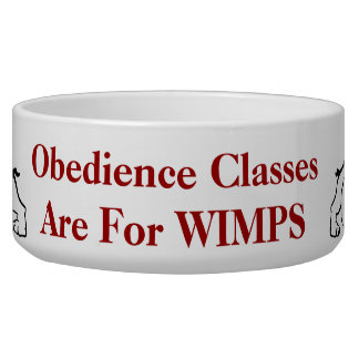 obedience classes are for Wimps bulldog pet bowl