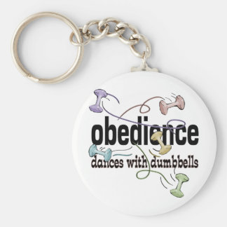 Obedience: Dances with Dumbbells Basic Round Button Keychain