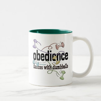 Obedience: Dances with Dumbbells Two-Tone Coffee Mug