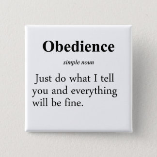 Obedience Definition Pinback Button