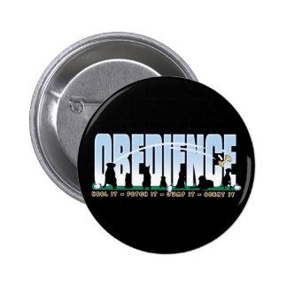 Obedience: Heel it, Fetch It, Jump It, Scent It Pinback Buttons