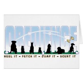 Obedience: Heel it, Fetch It, Jump It, Scent It Card