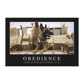 Obedience: Inspirational Quote 2 Canvas Print