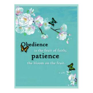 Obedience, Patience Postcard