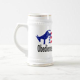 Obedience Patriotism Beer Stein