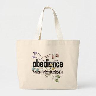 Obediencia: Danzas con pesas de gimnasia Bolsa De Tela Grande