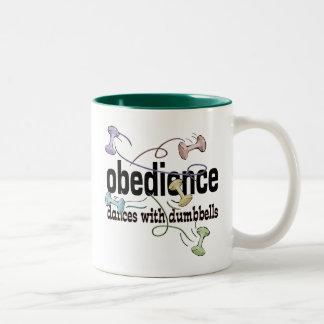 Obediencia: Danzas con pesas de gimnasia Tazas De Café