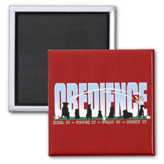Obediencia: Inclínese la, tráigala, sáltela, Imanes