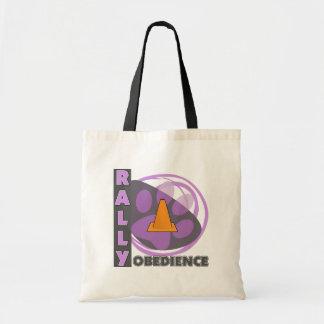 Obediencia púrpura fresca de la reunión bolsas de mano