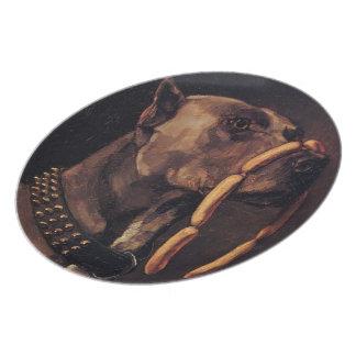 Obedient Doberman Pinscher Melamine Plate