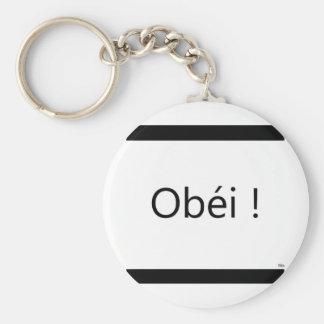 obéi basic round button keychain