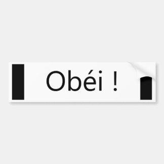obéi bumper sticker