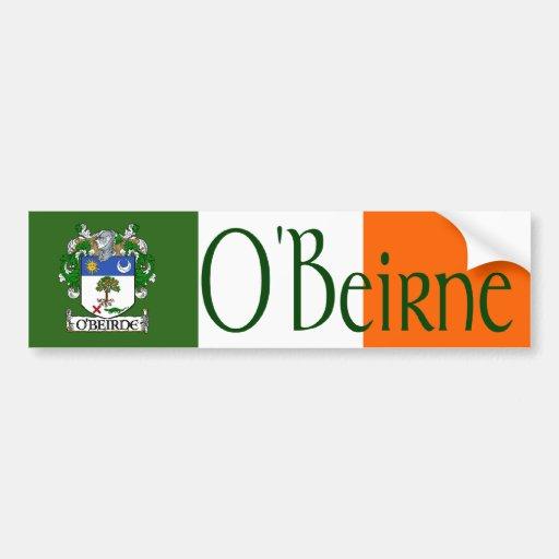O'Beirne Coat of Arms Bumper Sticker