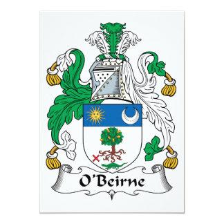 O'Beirne Family Crest Custom Invitation