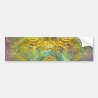 Obeisance to Nature, Colorful Digital Abstract Art Car Bumper Sticker