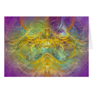 Obeisance to Nature, Colorful Digital Abstract Art Card