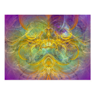 Obeisance to Nature, Colorful Digital Abstract Art Postcard