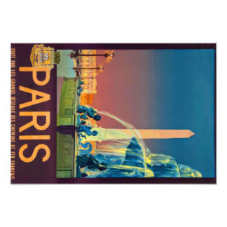 Obelisco de la fuente de la noche de París Francia Fotografía