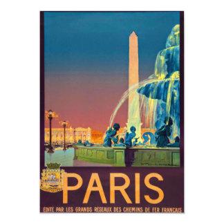 """Obelisco de la fuente de París Francia Invitación 5"""" X 7"""""""
