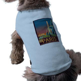 Obelisco de la fuente de París Francia Playera Sin Mangas Para Perro