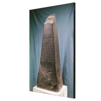 Obelisco de Manishtusu de Susa, c.2270 A.C. Impresiones En Lienzo Estiradas