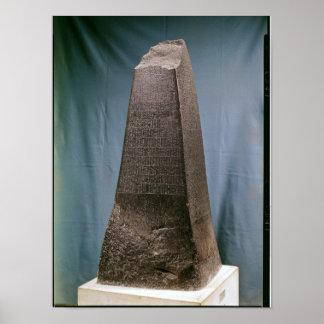 Obelisco de Manishtusu de Susa, c.2270 A.C. Póster
